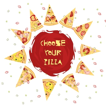 Choice of pizza round design