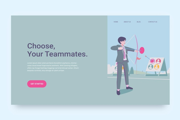 Choice of worker concept landing page