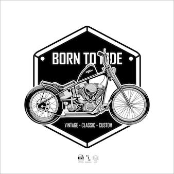 Chooper motorcycle illustration ready format eps 10