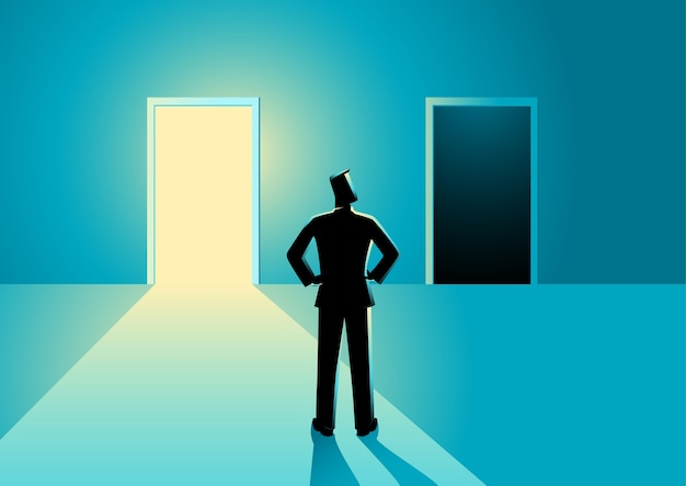 Choose between bright or dark door