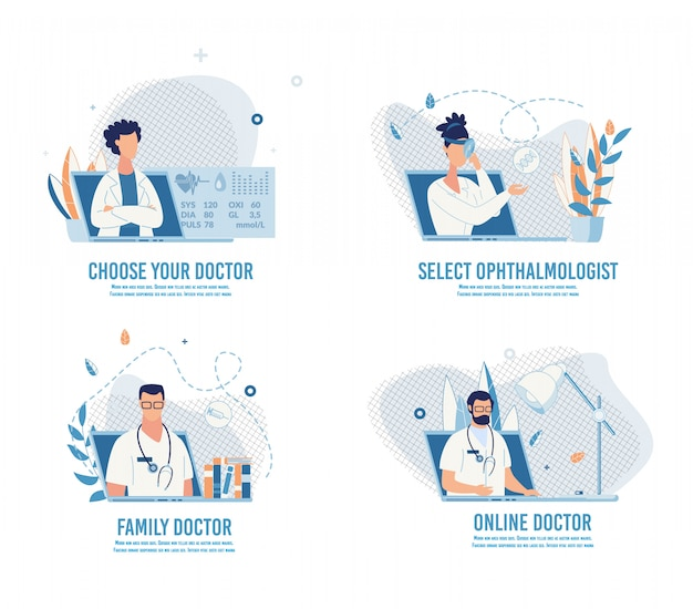 Choose doctor and make appointment online set