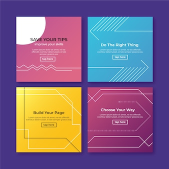 Choose your way tips instagram post collection