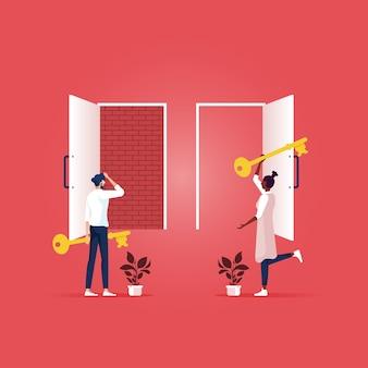 成功への正しい道を選ぶ
