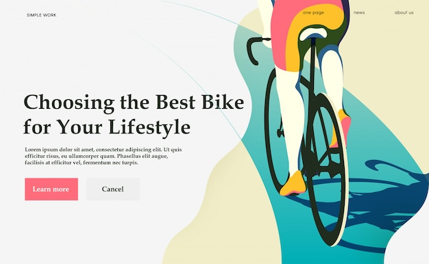 Choosing the best bike for your lifestyle. cycling.