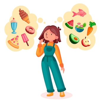 건강에 좋은 음식과 건강에 해로운 음식 중에서 선택