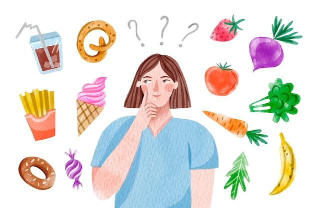 健康食品または不健康食品の選択