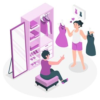 Выбор иллюстрации концепции одежды