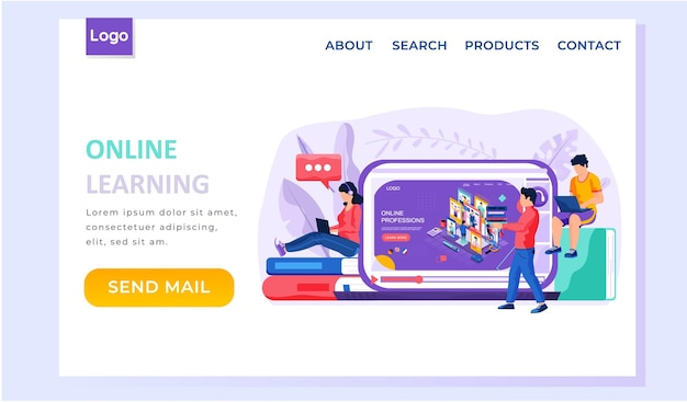 Choosing a future profession landing page template