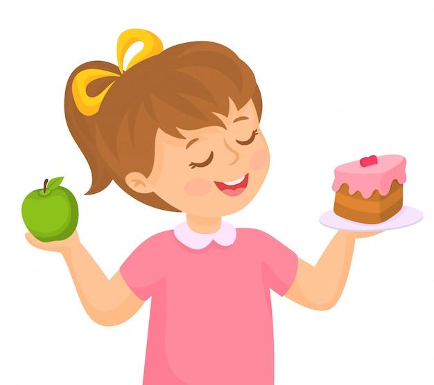 Choosing healthy food concept