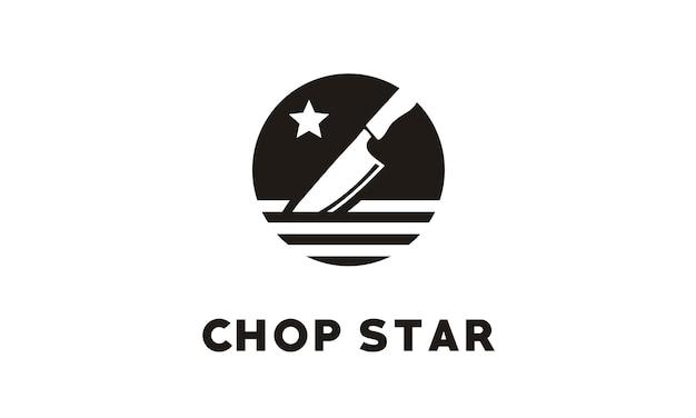 Дизайн логотипа chop / chef knife