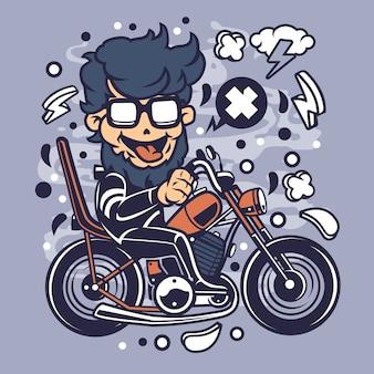Chopper hipster cartoon