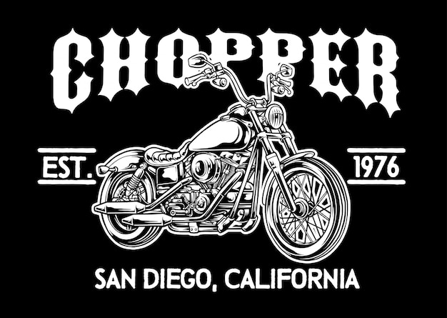 Chopper motorcycle emblem