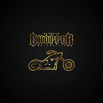 Chopper motorcycle logotype theme vector art illustration