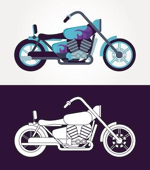 헬기 오토바이 스타일 차량 아이콘 그림