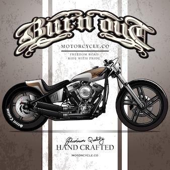 Классический заказный плакат мотоциклов chopper