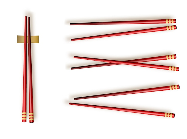 Chopsticks. set accessories for sushi isolated illustration