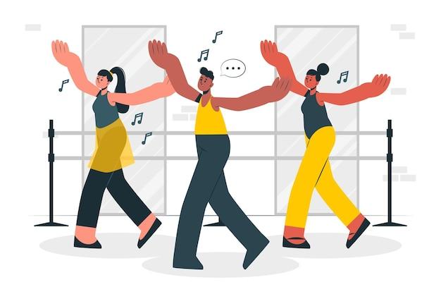 Illustrazione di concetto di coreografo
