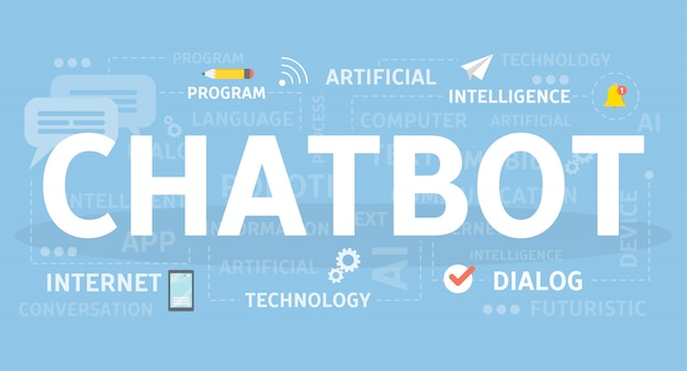 Chotbotの概念図。人工知能のアイデア。