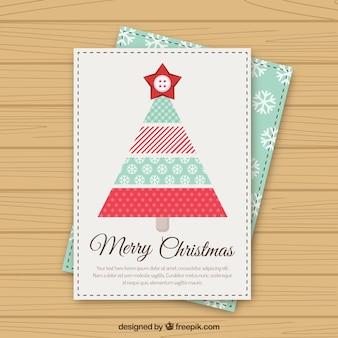 かわいい幾何chriistmasツリークリスマスカード