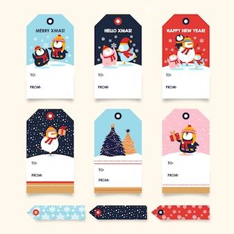 Chrismas penguin tag collection