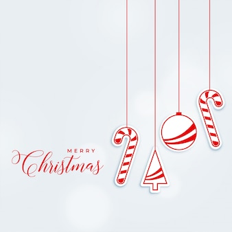 Chrismtas greeting design with hanging decorative elements