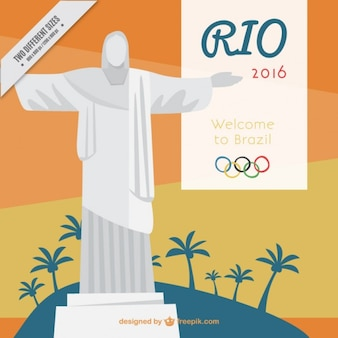 Christ the redemmer rio 2016 background