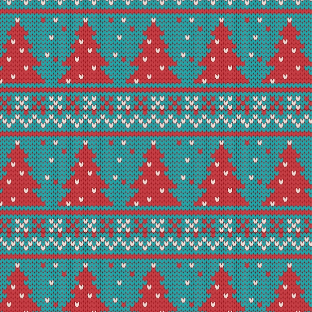 Christams ornaments - seamless knitted background