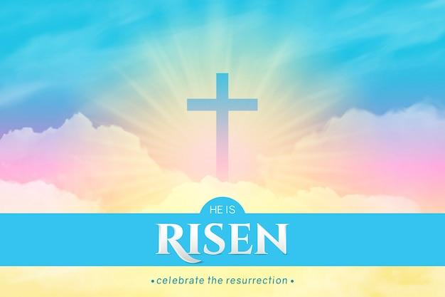 Christian religious design. rectangular horizontal background
