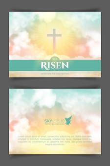 기독교 종교 디자인.