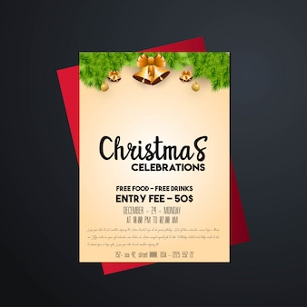 Christmas 2019 party poster template