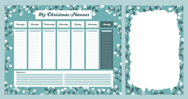 Christmas 2021 calendar holiday celebration design collection set sticker Premium Vector