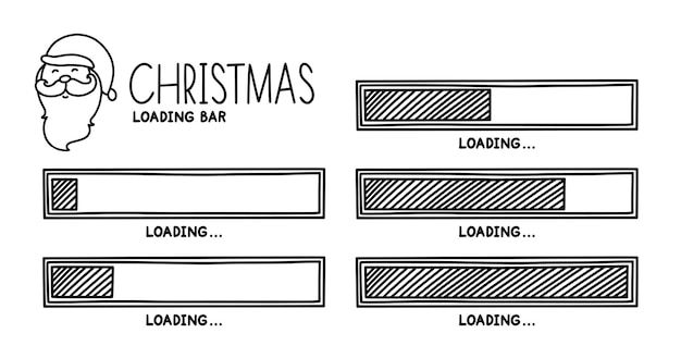 Christmas 2022 progress loading bar infographics design element with status of completion