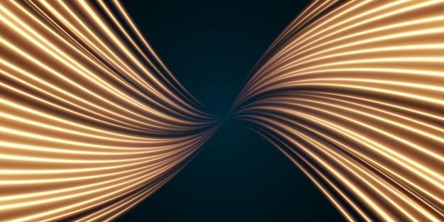 황금빛 부드러운 선의 크리스마스 추상적인 배경 새로운 2022년 속도의 황금선입니다.