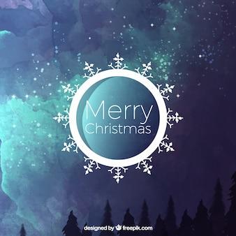 水彩風景のクリスマス抽象的な背景