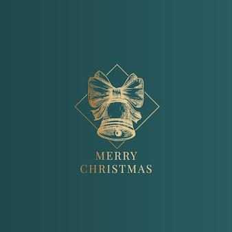クリスマス抽象的な上品なラベル、記号またはカードテンプレート。