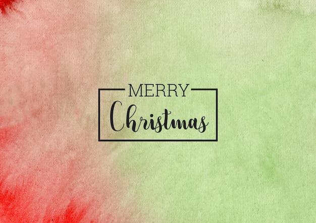 Рождество абстрактный зеленый акварельный фон