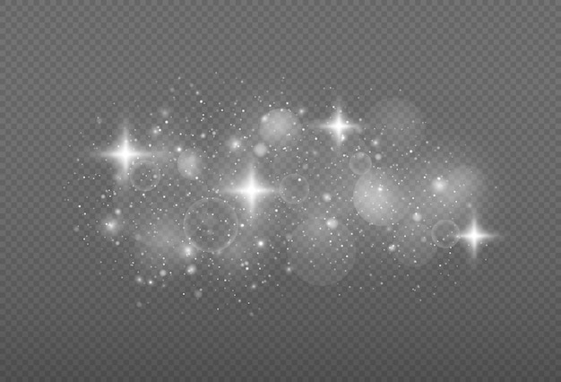 クリスマスの抽象的なパターンの魔法のほこりの粒子