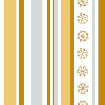 Рождество абстрактный бесшовный паттерн золото и серебро вертикальные полосы и снежинки