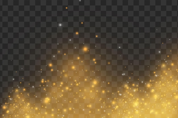 Рождество абстрактный стильный световой эффект на черном прозрачном фоне.