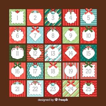 Christmas advent calendar design