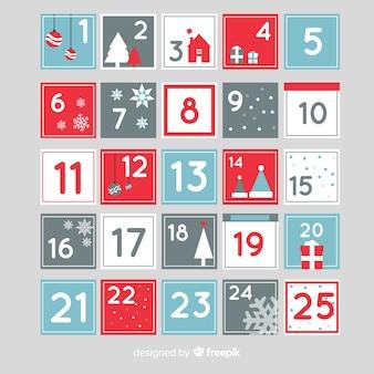 Disegno del calendario dell'avvento di natale