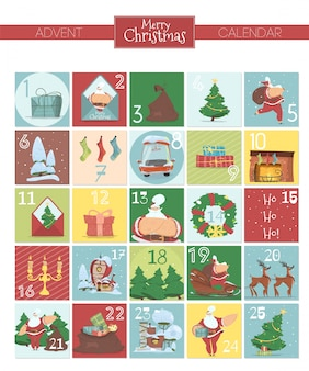 Christmas advent calendar.