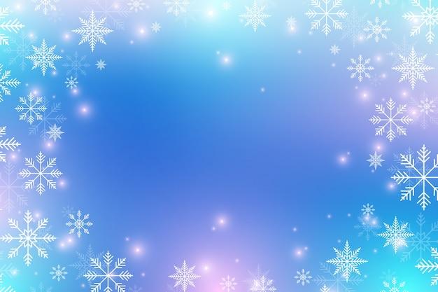 クリスマスと新年あけましておめでとうございますの背景と雪片。