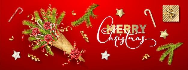 Рождество и новый год баннер