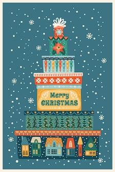 Иллюстрация рождества и нового года