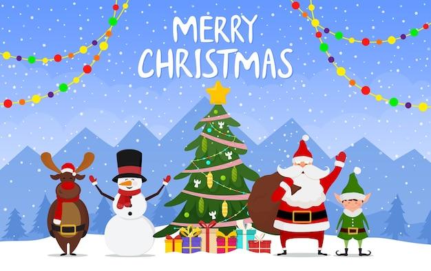 Рождества и счастливого нового года иллюстрации.