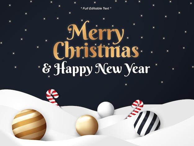 검은 배경에 크리스마스와 새해 복 많이 받으세요