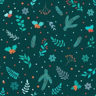 クリスマスと新年あけましておめでとうございますシームレスパターン。トレンディなレトロなスタイル。