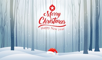 Christmas and Happy New Year, Typography, Xmas