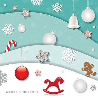 크리스마스와 새 해 복 많이 받으세요 겨울 배경입니다.